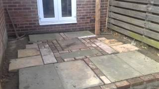 Recycled Paving Project With Fence, Gate & Gravel Planting Area In Ovington. Landscape Gardening Wor