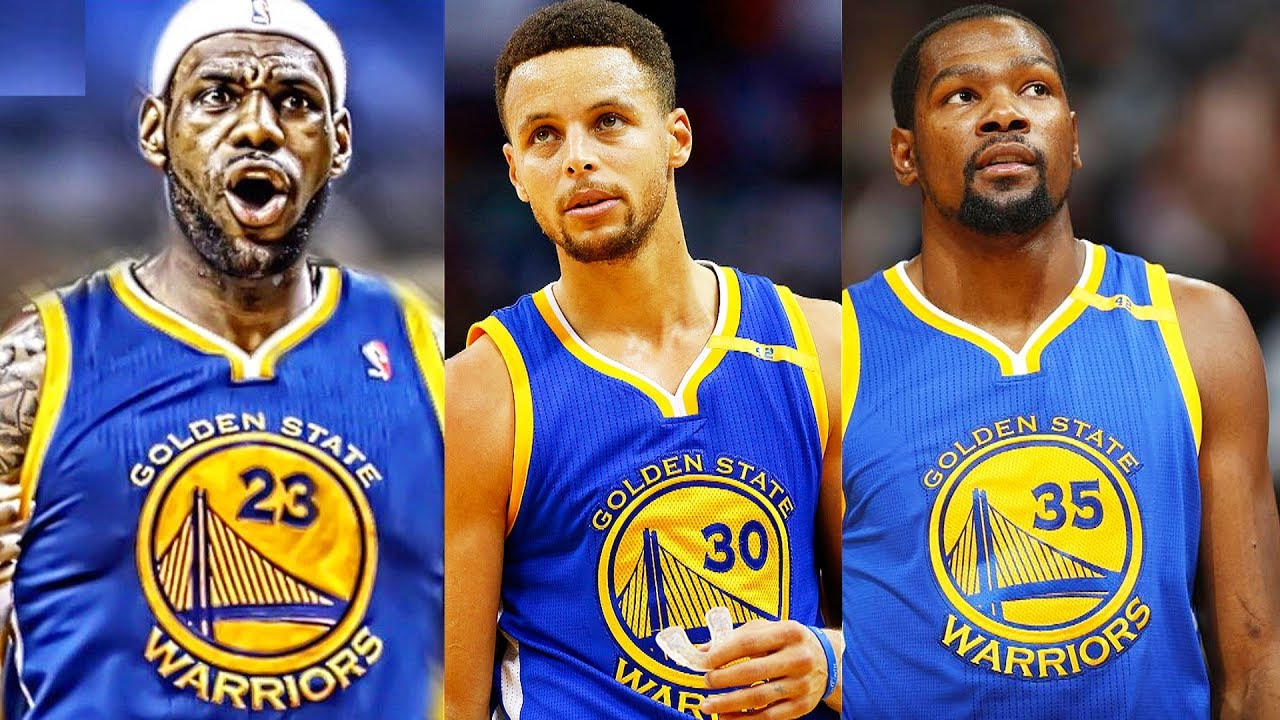 sale retailer ff382 bfc90 LeBron James Traded to Warriors! LeBron James Joins Stephen Curry and Kevin  Durant on the Warriors
