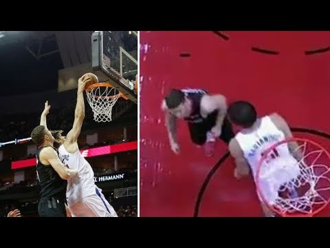 Boban Marjanovic DUNKS on Rockets Defense and STARES THEM DOWN!