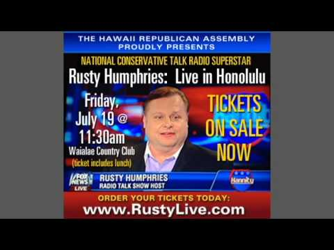 Sam Slom Promotes HIRA Luncheon Featuring National Talk Radio Star Rusty Humphries