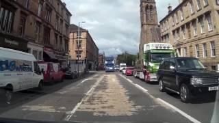 Drive Around City of Glasgow Scotland