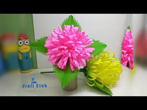 DIY Paper Dahlia Tutorial | How to Make Dahlia Paper Flower