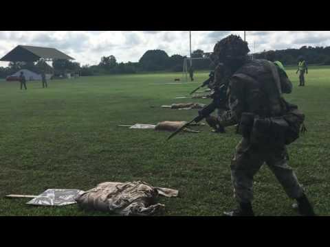 Bayonet Fighting training