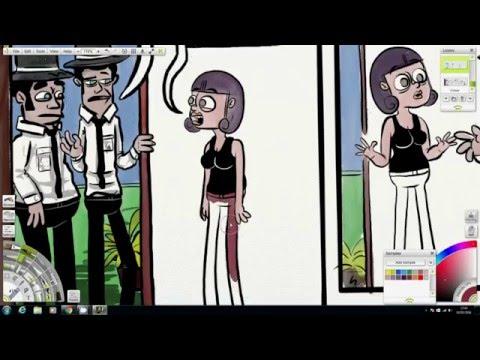 Art Rage Comic Strip Drawing Process - #001