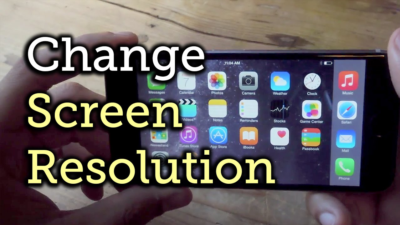 best sneakers 72710 3048d Change the Resolution & Enable Home Screen Landscape Mode - iPhone 6  [How-To]