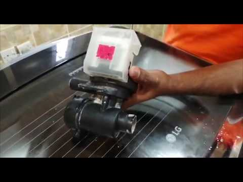 How To Replace The LG Top Load Washer Drain Pump In This Video