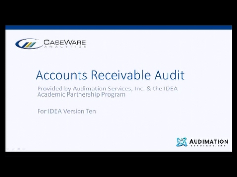 IDEA 10 Workbook Section 2 - Accounts Receivable Audit