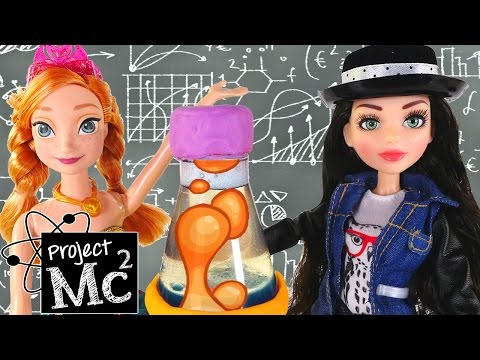 Project Mc2 McKeyla McAlister Play Doh Lava Light Science Experiment + Frozen Princess Barbie Doll