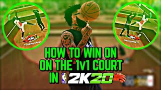 HOW TO WIN ON THE 1v1 COURT IN NBA 2K20