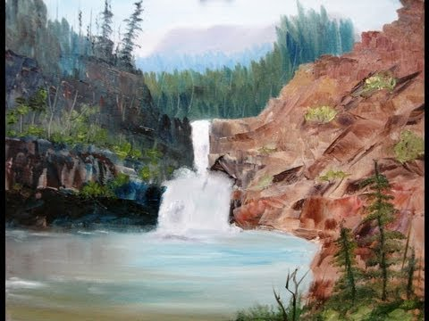 """Paint Along with Larry Hamilton - April 17, 2013 Oil Painting """"Running Eagle Falls"""""""