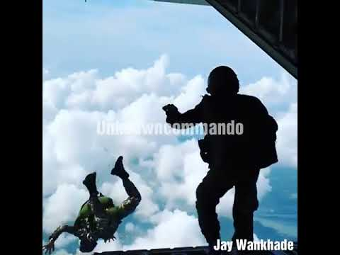 Rare Special Forces COMBAT FREEFALL of Indian Navy Marine Commandos (MARCOS)