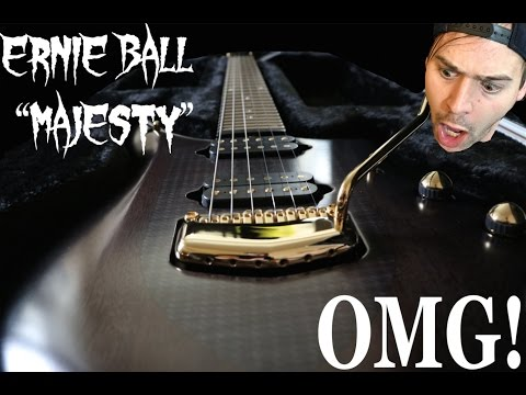 "ERNIE BALL MUSIC MAN ""ARTISAN NERO MAJESTY"""