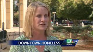Where is the homeless population in downtown Sacramento?
