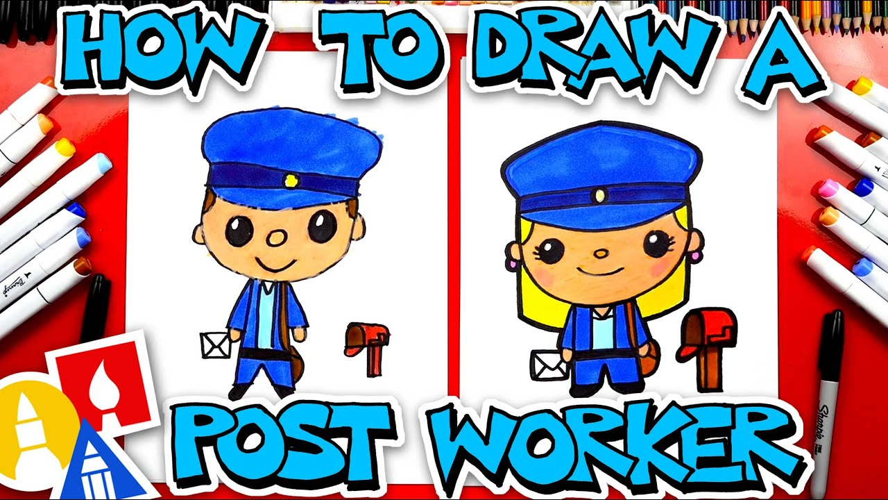 How To Draw A Postal Worker Stayhome And Draw Withme Youtube