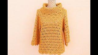 Feliz Miércoles ganchilleras! Muchas de vosotras me habéis preguntado que como podríais hacer un jersey como el poncho amarillo que hice . Y aquí os lo he ...