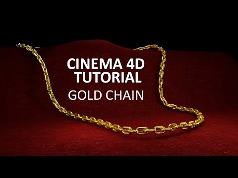 CINEMA 4D TUTORIAL - Gold Chain