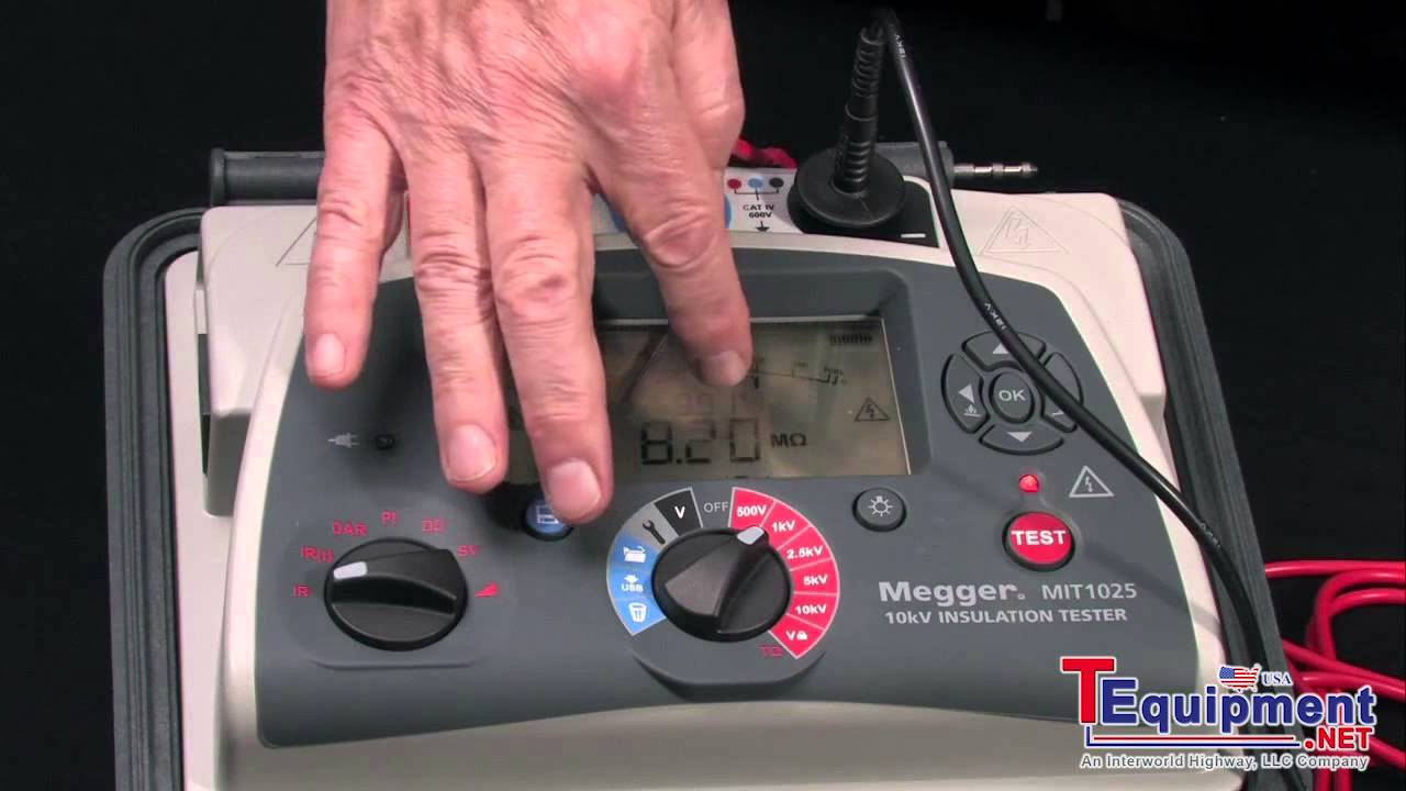 Megger Mit1025 Insulation Resistance Tester Getting Started Youtube Ideal Receptacle Gfi Circuit Voltagecontinuity Pricefalls
