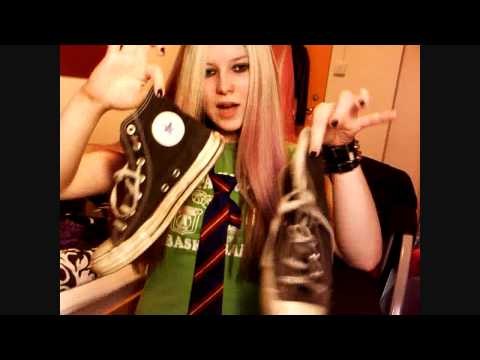 Avril Lavigne Sk8er Boi Tutorial - Make Up, Hair and Clothing! (Requested)