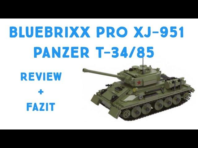 Bluebrixx Prop XJ-951 Panzer T-34/85 - Review [Deutsch/German]