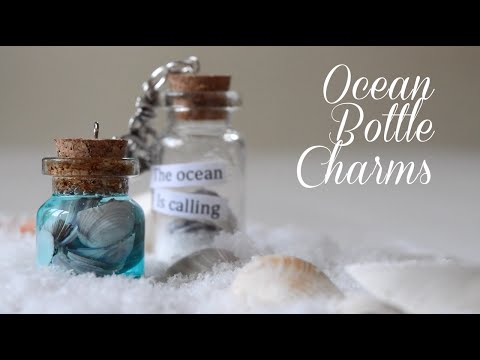 Ocean Miniature Bottle Charms DIY