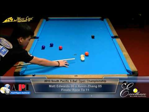 Final: 2013 South Pacific Open 9-Ball Championship / Matthew Edwards Vs Kevin Zhang