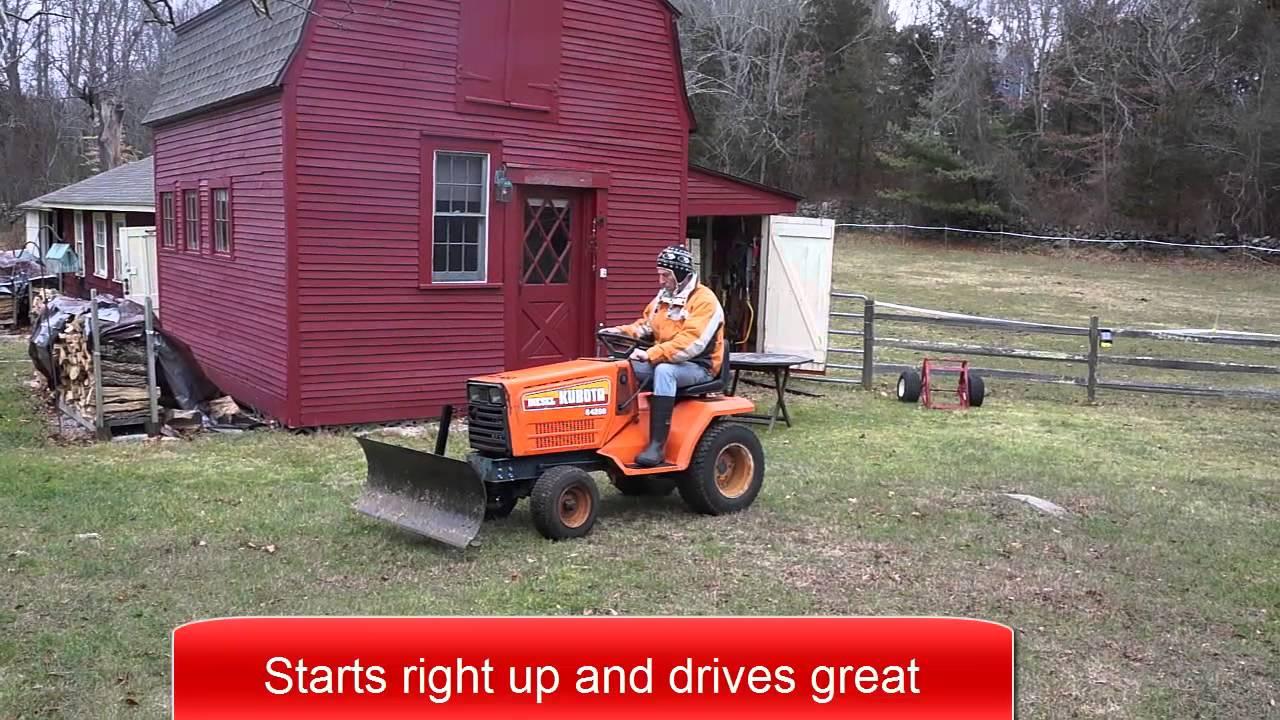 Garden Tractor Without Mower Deck : G diesel garden tractor with plow ans mower deck youtube