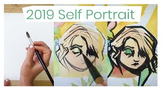 It's just a self portrait - WATERCOLOR PAINTING 2019