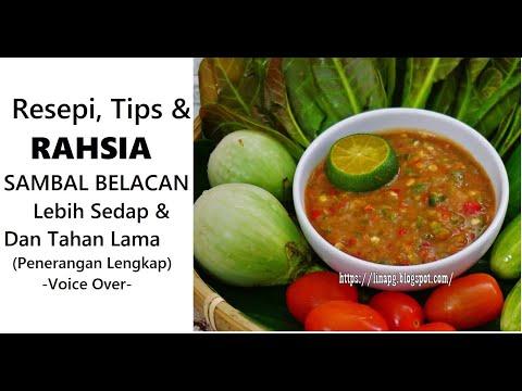 Resepi Tips Dan RAHSIA Sambal Belacan Lebih SEDAP | PETUA Sambal TAHAN LAMA | Sambal Belacan Recipe