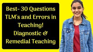 Teaching Learning Materials, Errors, Remedial and Diagnostic Test Questions for DSSSB-2018