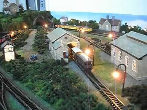 N Gauge model railway Layout FOR SALE from KJB Models Lyddle end East etc Video one.