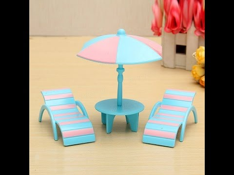 How To Make Beach Chair Table Dollhouse Miniatures
