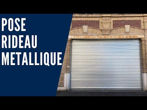 Comment installer un rideau métallique en acier motorisé?