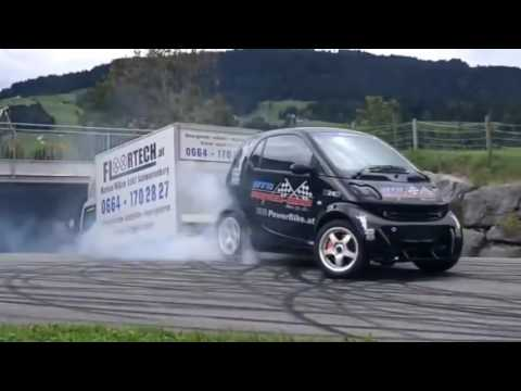 Smart Car With Hayabusa Engine >> Smart Car With Hayabusa Turbo Engine Smart Hayabusa Donuts And Burnout