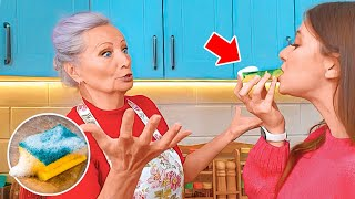 I PRANK my GRANNY! 👵 Granny's hacks and tips for beauty and home
