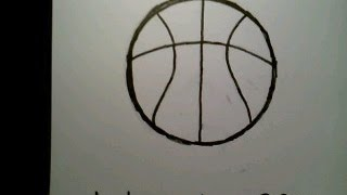 How To Draw A Basketball como dibujar una pelota de baloncesto basquet bol NBA college  hoop player
