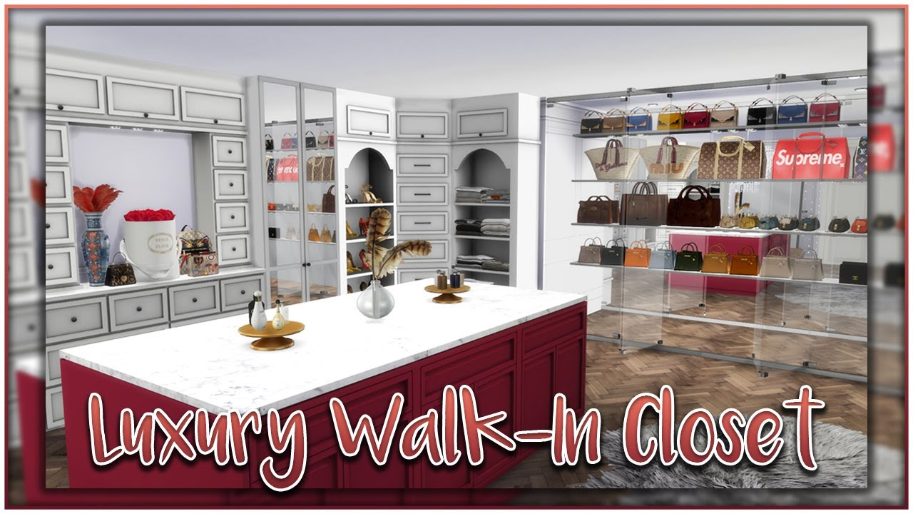 Luxury Walk In Closet Sims 4 Roombuild Youtube