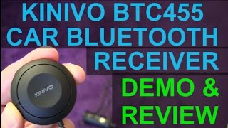 Kinivo BTC 455 Bluetooth Handsfree Car Receiver with Voice Assistant Control and AptX Sound