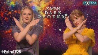 Jessica Chastain & Sophie Turner Joke About Partying Hard on 'Dark Phoenix' Set