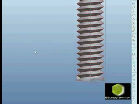 Pro/ENGINEER (Pro/E) tutorial - modeling a screw