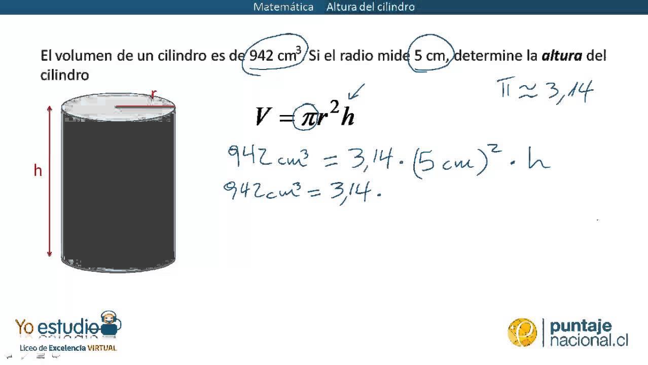 Matemática - Altura del cilindro - YouTube