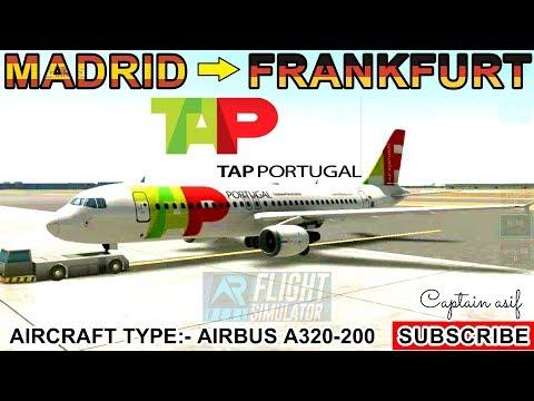 real-flight-simulator:-madrid-(mad)-to-frankfurt-(fra):-tap-portugal-airline:-timelapse
