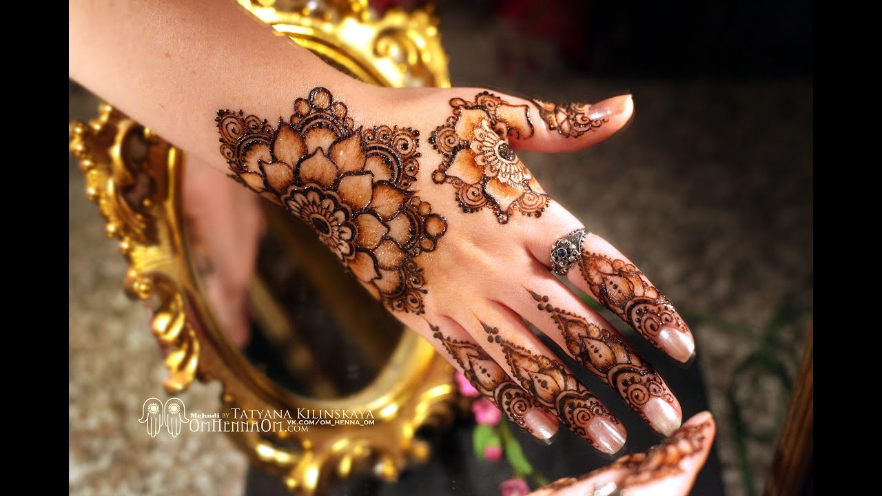 Mehndi Flower Image : Flowers mehndi design for hands henna print yusra