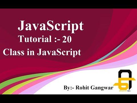 javascript-tutorial-20-|-class-in-javascript