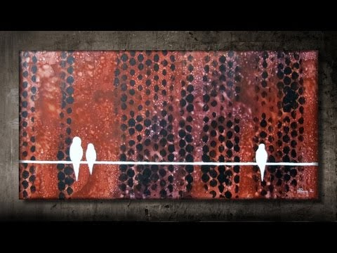 How to add texture to your painting using bubble wrap FAST and