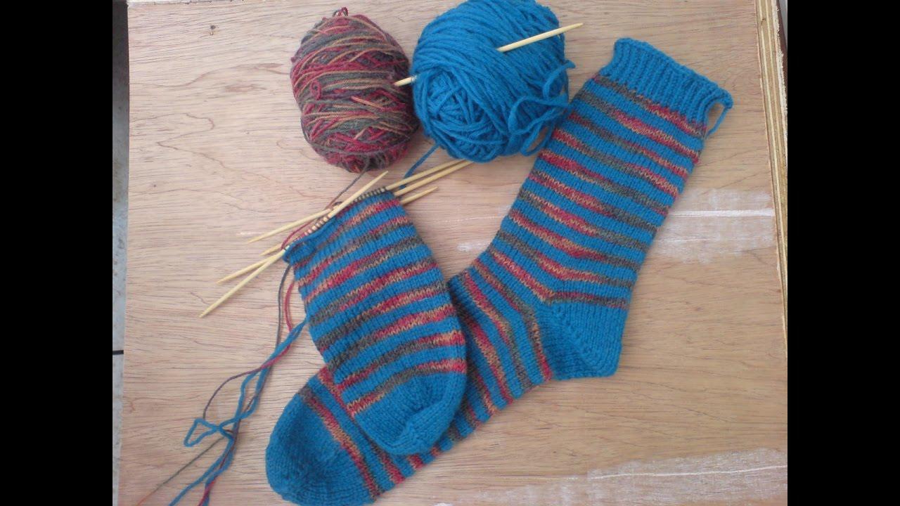 Como hacer calcetines con dos agujas youtube - Como hacer calcetines de lana a dos agujas ...