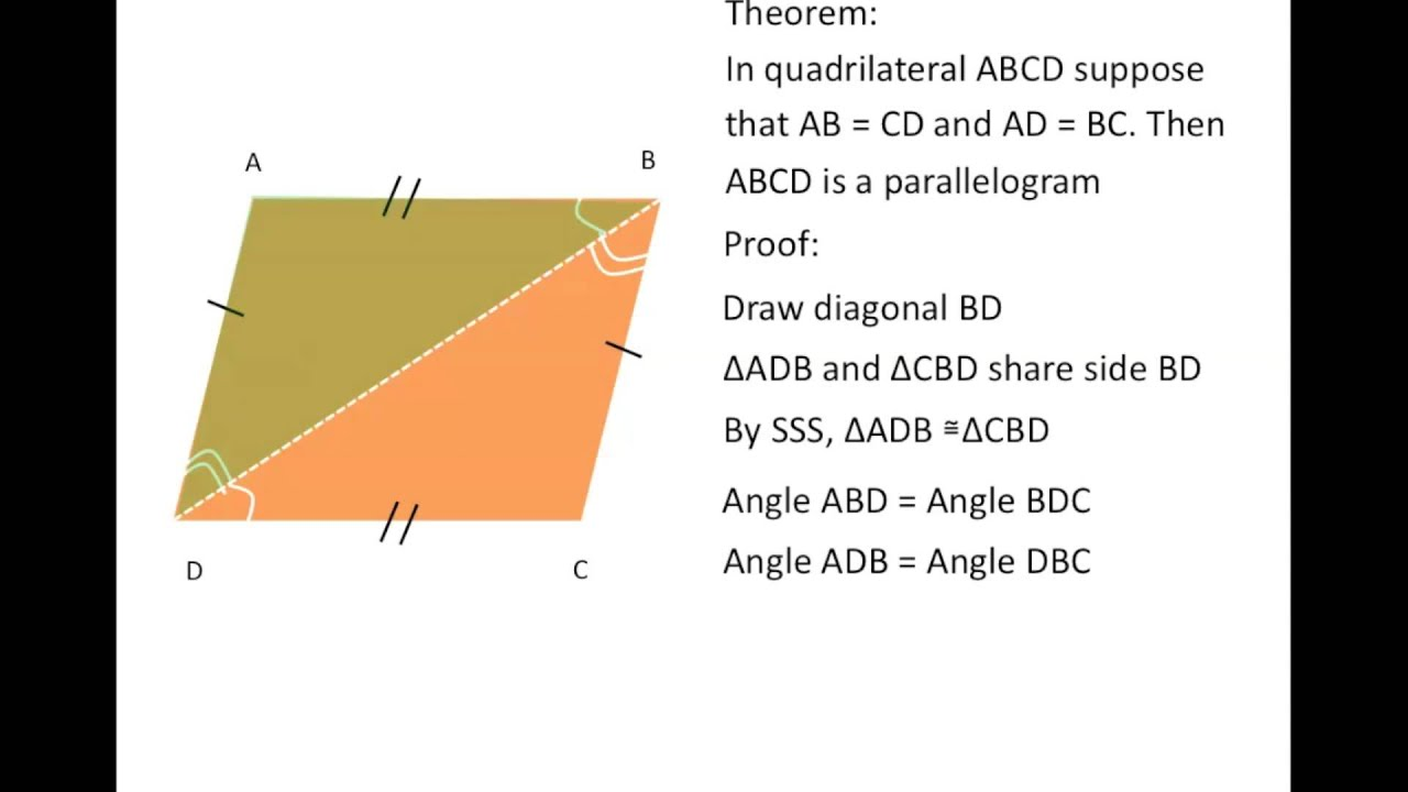 Theorems regarding parallelograms youtube theorems regarding parallelograms ccuart Images