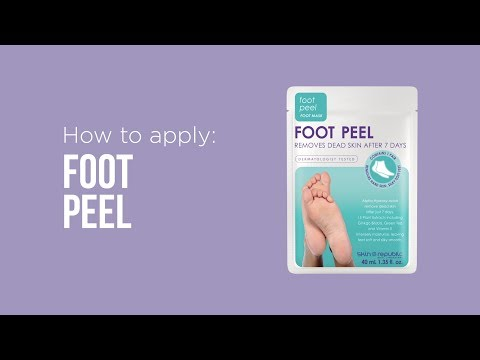How to apply: Skin Republic Foot Peel