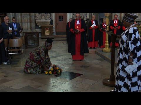 Westminster Abbey dedicates memorial stone to Mandela
