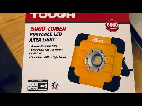 Hyper Tough 5000 Lumen Portable Area Led Light Youtube