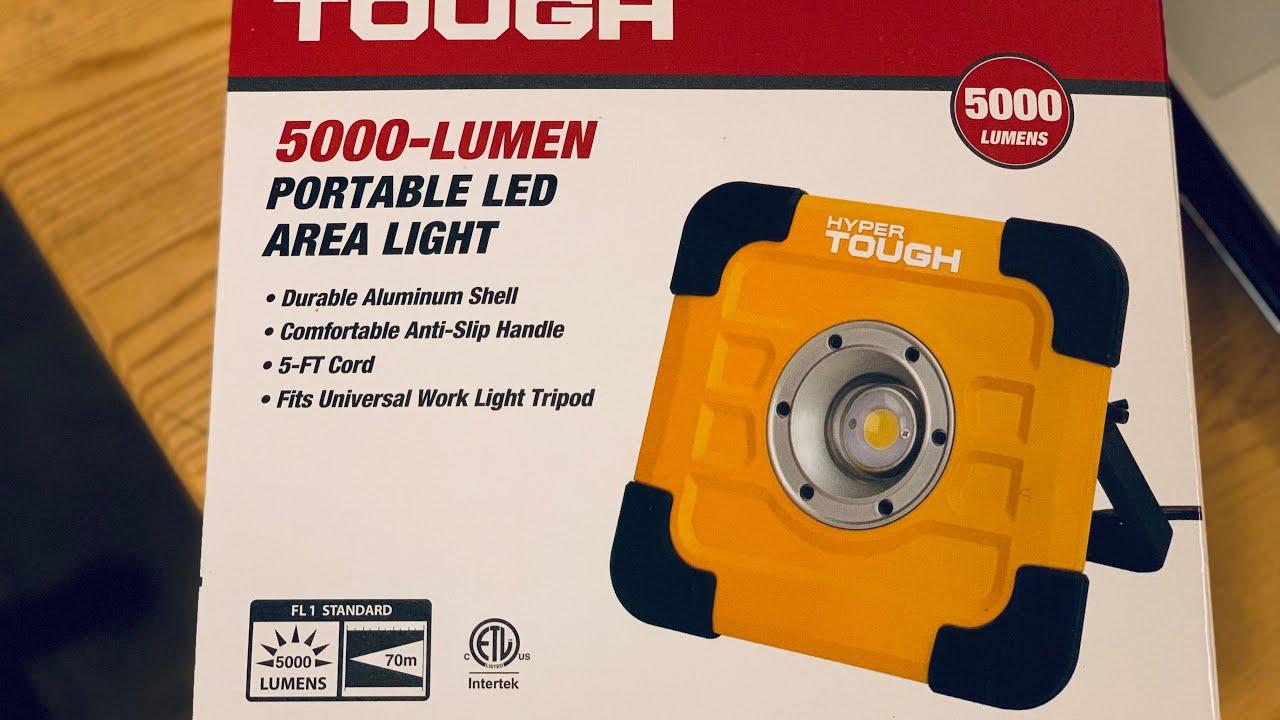 Hyper TOUGH 5000 LUMEN Portable Area LED Light